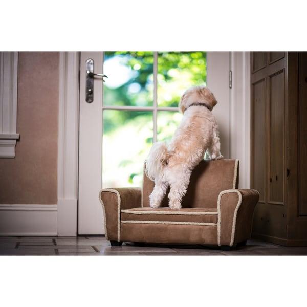 Enchanted Home Pet Chestnut Shearling Club Chair