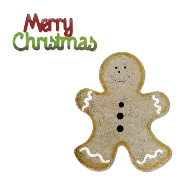 Sizzix Bigz Gingerbread Man & Merry Christmas Die