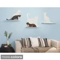 Cat Silhouette Cat Shelf (Set of 3)
