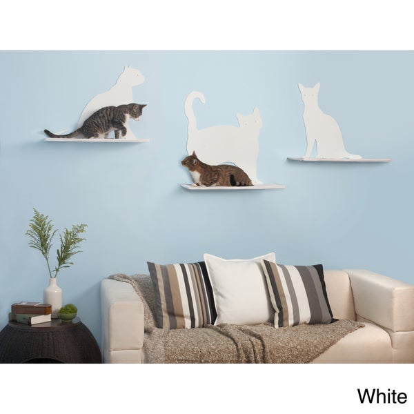 Cat Silhouette Cat Shelf (Set of 3)
