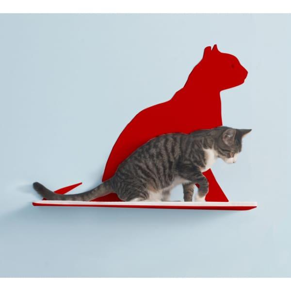 Cat Silhouette Steel Cat Shelf