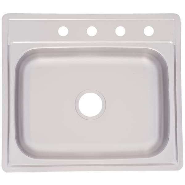 Franke Single Bowl Topmount 6 Inch Deep Stainless Steel Sink Free Shipping Today 7570681