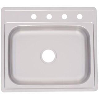 Franke Single Bowl Topmount 6-inch Deep Stainless Steel Sink