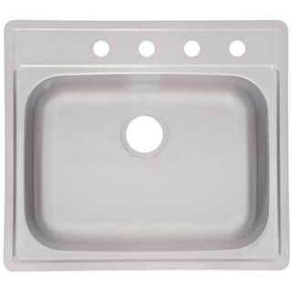 Franke Single Bowl Top Mount 8-inch Deep Stainless Steel Sink