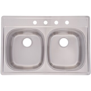 Franke Double Bowl 8.5-inch deep Stainless Steel Sink