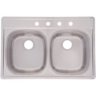 Franke usa kitchen sinks for less overstock franke double bowl 85 inch deep stainless steel sink workwithnaturefo