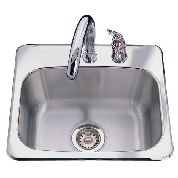 Franke Dual Mount 8-inch Deep Stainless Steel Bar Sink