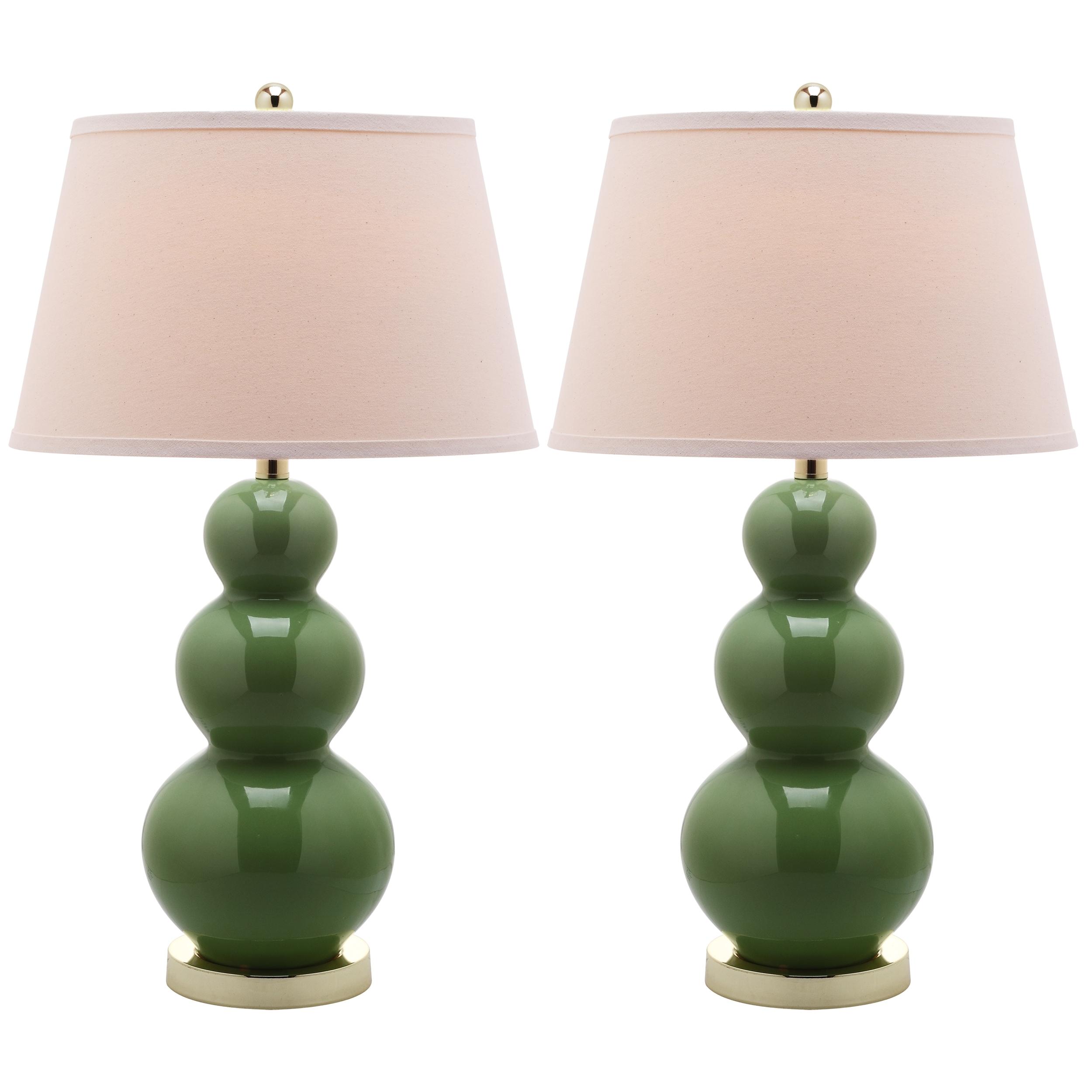 Safavieh Lighting 27-inch Pamela Triple Gourd Green Table...
