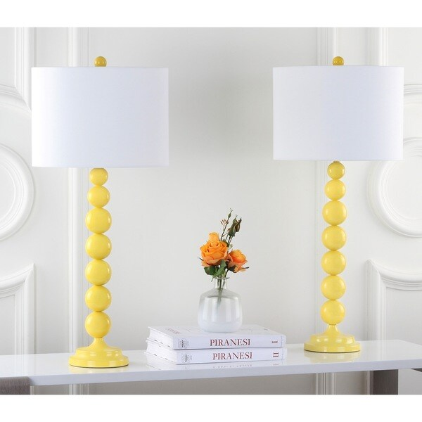 Shop Safavieh Lighting 31 Inch Jenna Stacked Ball Yellow Table Lamp