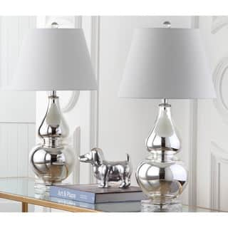 Safavieh Lighting 26.5-inch Cybil Double Gourd Silver Table Lamps (Set of 2)|https://ak1.ostkcdn.com/images/products/7570776/P15000006.jpg?impolicy=medium