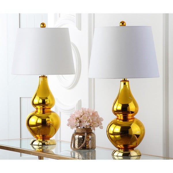 Shop Safavieh Lighting 26.5-inch Cybil Double Gourd Gold ...