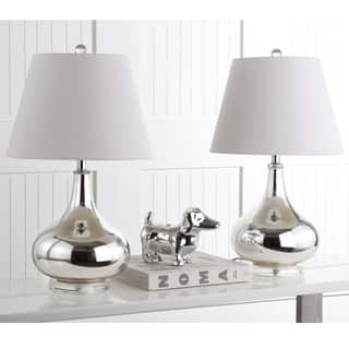Safavieh Lighting 24-inch Amy Gourd Glass Silver Table Lamps (Set of 2)|https://ak1.ostkcdn.com/images/products/7570790/P15000018.jpg?impolicy=medium