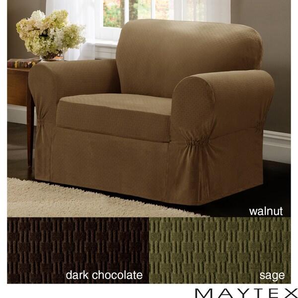 Maytex Cobblestone 2-Piece Chair Slipcover