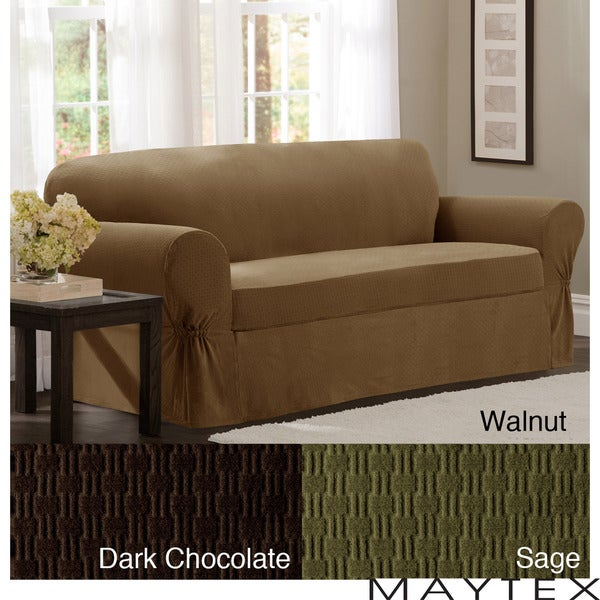Maytex Cobblestone 2-Piece Sofa Slipcover