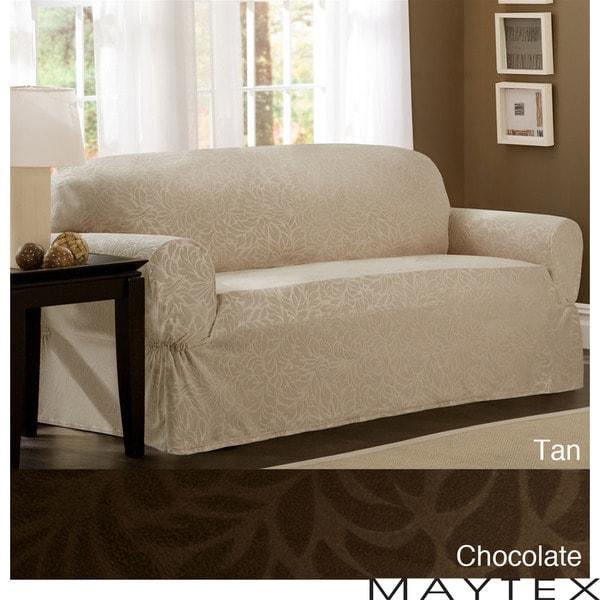 Maytex James Leaf One-Piece Sofa Slipcover