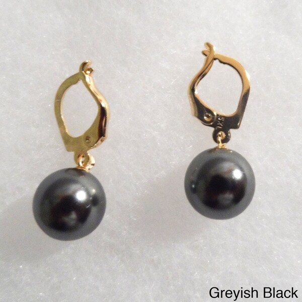 Ann Marie Lindsay 18k Gold Plated and Pearl Drop Earrings