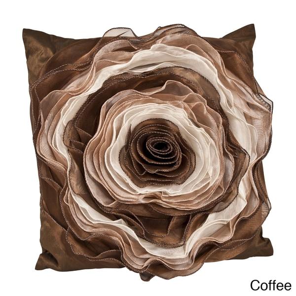 Filled Rose Design Pillow