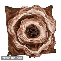 Filled Rose Design Pillow