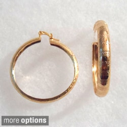 Ann Marie Lindsay 18k Gold or Layered Silver Hoop Earrings
