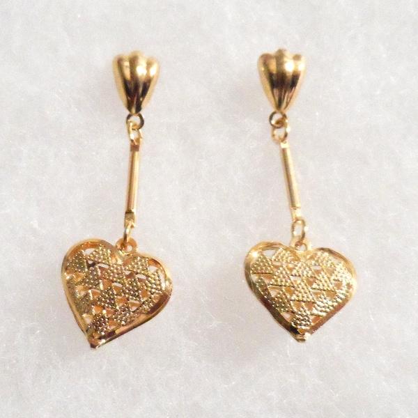 Ann Marie Lindsay 18k Gold Plated Heart Earrings