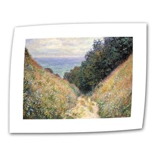 Claude Monet 'Footpath' Flat Canvas Art
