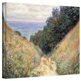 Claude Monet 'Footpath' Wrapped Canvas Art