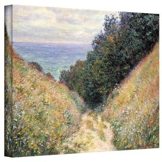 Claude Monet 'Footpath' Wrapped Canvas Art