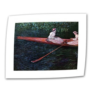 Claude Monet 'Canoe' Flat Canvas Art