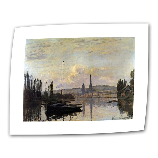 Small Claude Monet 'Dock' Wrapped Canvas Art
