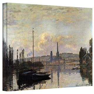 Claude Monet 'Dock' Wrapped Canvas Art