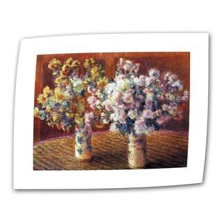 Claude Monet 'Two Vases' Flat Canvas Art