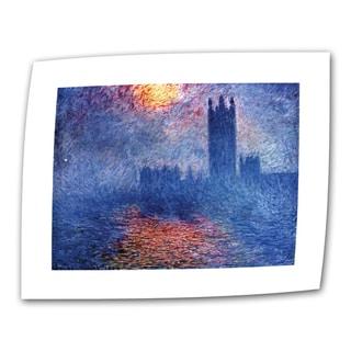 Claude Monet 'Houses of Parliament' Flat Canvas Art