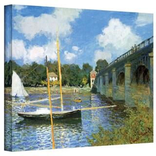 Claude Monet 'The Argenteuil Bridge' Wrapped Canvas