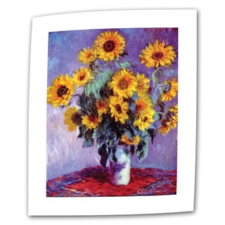 Claude Monet 'Sunflowers' Flat Canvas - Multi