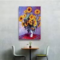 Claude Monet 'Sunflowers' Wrapped Canvas