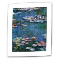 Claude Monet 'Water Lilies' Flat Canvas Art - Multi