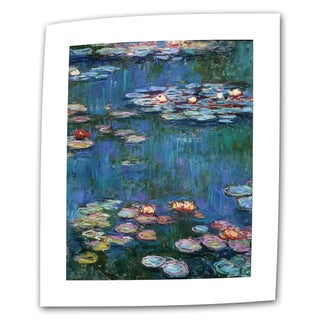Claude Monet 'Water Lilies' Flat Canvas Art - Multi (4 options available)