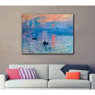 Claude Monet 'Sunrise' Wrapped Canvas
