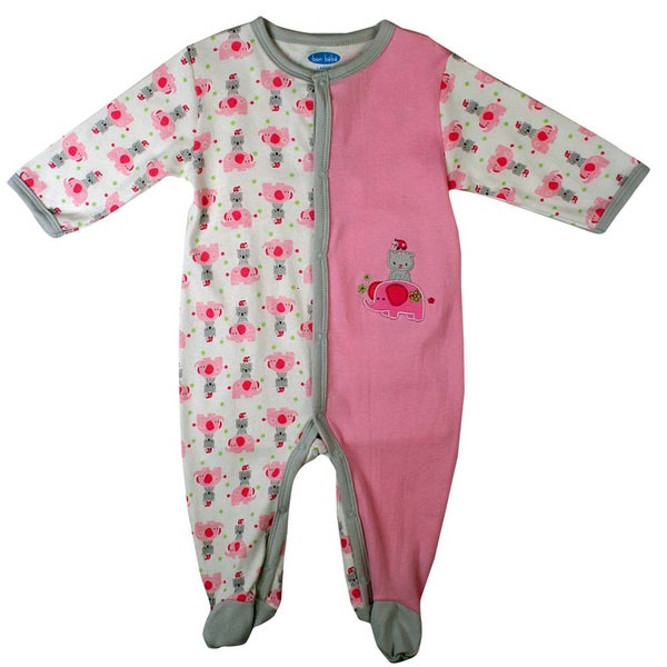 Bon Bebe Newborn Girl's Light Pink Kitty Coverall