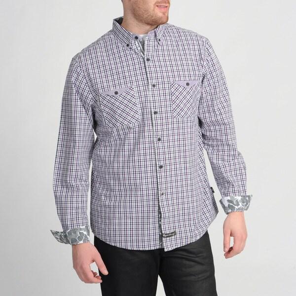 English Laundry Purple Woven Plaid Shirt