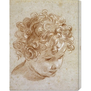 Global Gallery Niccolo Berrettoni 'The Head of a Child' Stretched Canvas Art