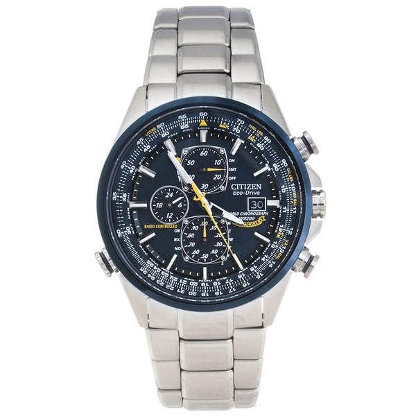 Citizen Men's Steel 'Blue Angels' World Chronograp Atomic Timekeeping Watch