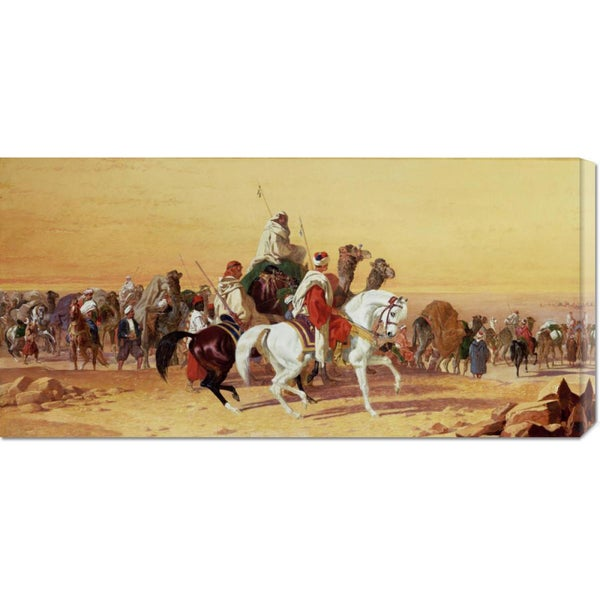 Global Gallery John Frederick Herring 'An Arab Caravan' Stretched Canvas