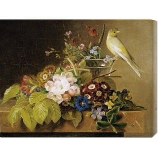Global Gallery Johan Laurents Jensen 'Sweet William, Forget Me Not' Stretched Canvas Art