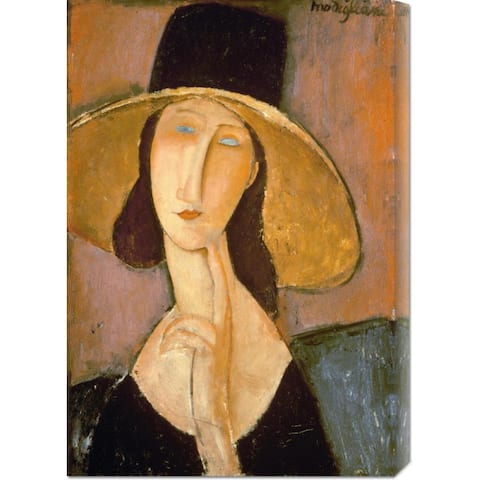Global Gallery Amedeo Modigliani 'Head of a Woman' Stretched Canvas Art