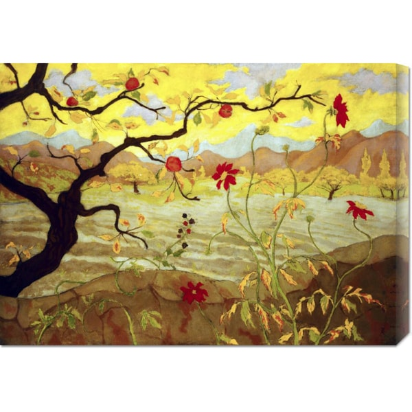 """Global Gallery, Paul Ranson """"Apple Tree with Red Fruit"""" Stretched Canvas Art"""