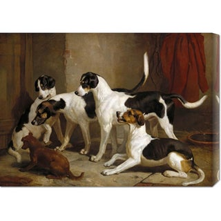 Global Gallery Thomas Woodward 'The Puckeridge Foxhounds' Stretched Canvas Art