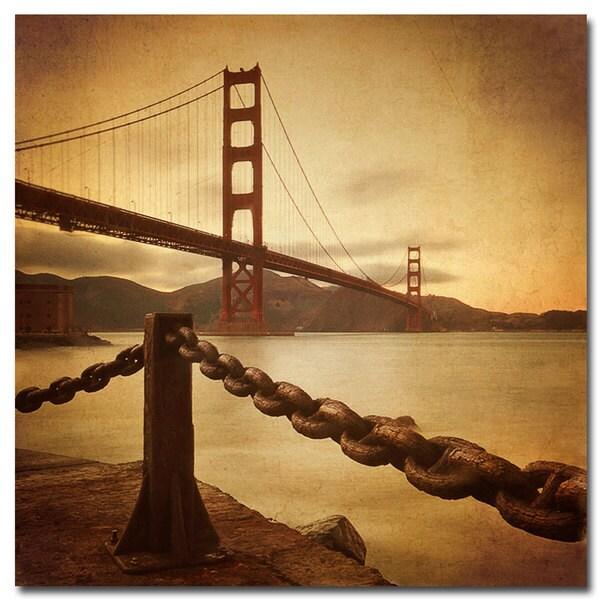 Philippe Sainte-Laudy 'Vintage Golden Gate' Canvas Art