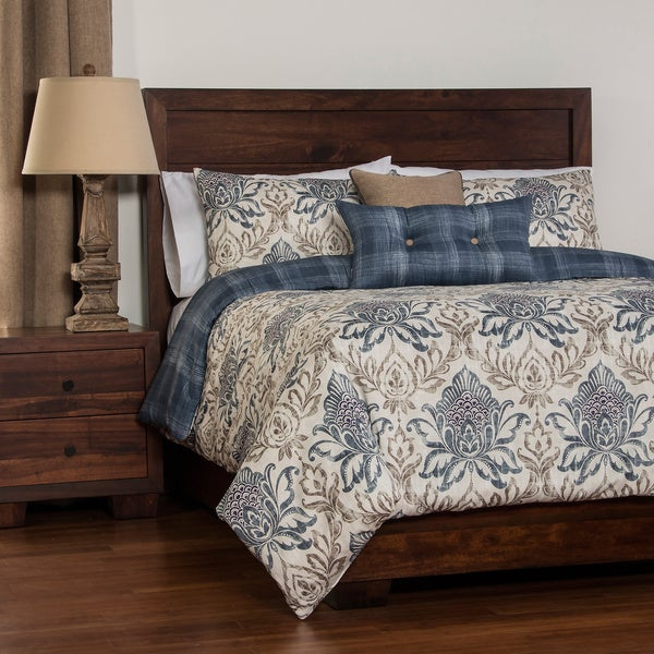 Genoa Reversable Duvet Cover Set: Comforter Insert included