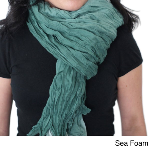 Ombre Hand-dyed Crinkle Scarf